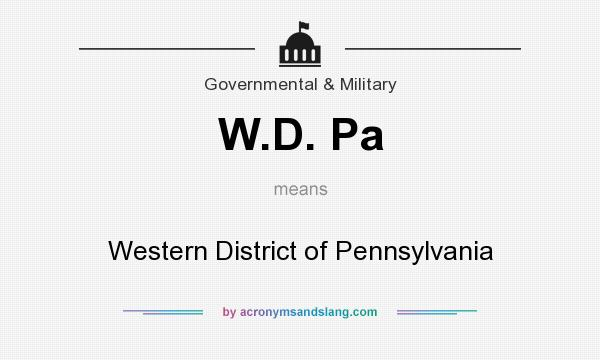 What does W.D. Pa mean? It stands for Western District of Pennsylvania