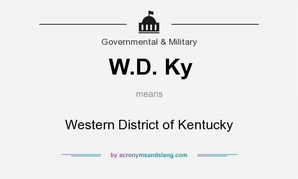 What does W.D. Ky mean? It stands for Western District of Kentucky