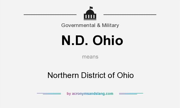 What does N.D. Ohio mean? It stands for Northern District of Ohio