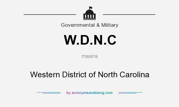 What does W.D.N.C mean? It stands for Western District of North Carolina