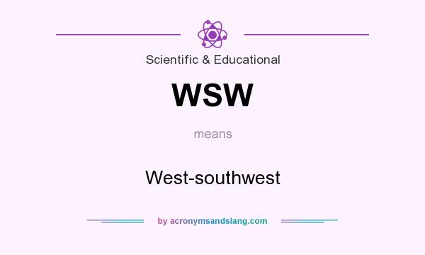 What does WSW mean? It stands for West-southwest
