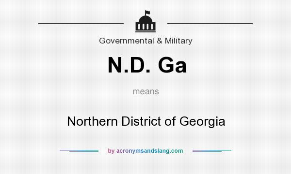 What does N.D. Ga mean? It stands for Northern District of Georgia