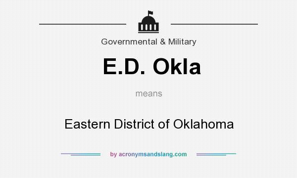 What does E.D. Okla mean? It stands for Eastern District of Oklahoma