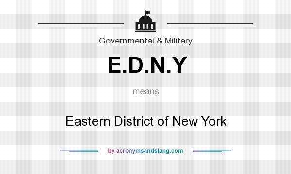 What does E.D.N.Y mean? It stands for Eastern District of New York