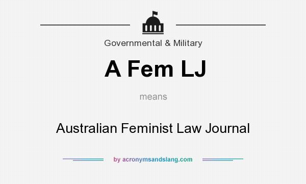 What does A Fem LJ mean? It stands for Australian Feminist Law Journal