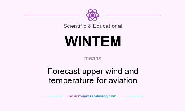 What does WINTEM mean? It stands for Forecast upper wind and temperature for aviation