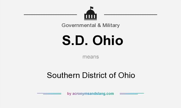 What does S.D. Ohio mean? It stands for Southern District of Ohio
