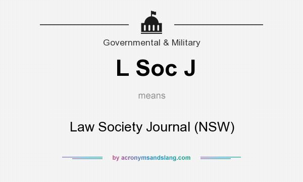 What does L Soc J mean? It stands for Law Society Journal (NSW)