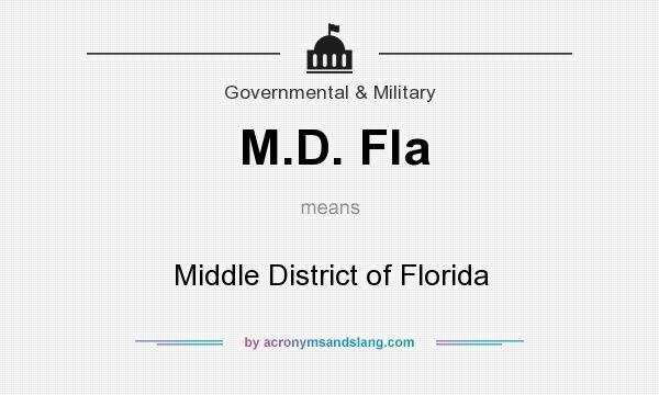 What does M.D. Fla mean? It stands for Middle District of Florida