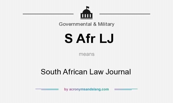 What does S Afr LJ mean? It stands for South African Law Journal