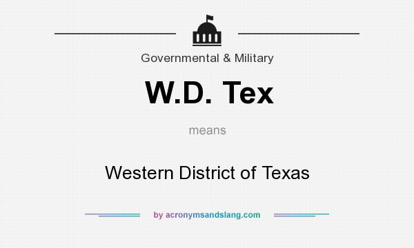 What does W.D. Tex mean? It stands for Western District of Texas