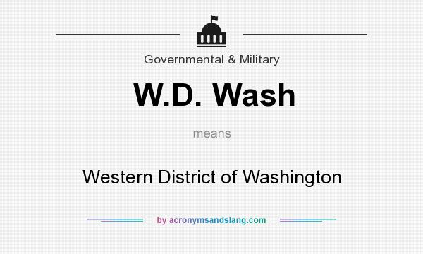 What does W.D. Wash mean? It stands for Western District of Washington