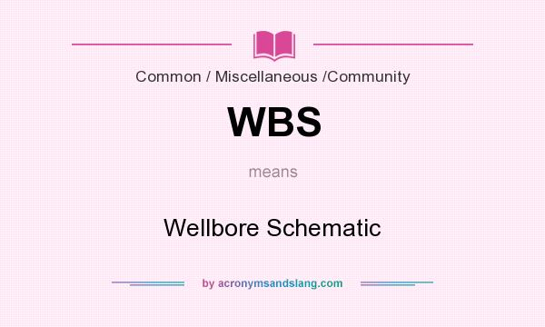What does WBS mean? It stands for Wellbore Schematic