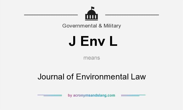 What does J Env L mean? It stands for Journal of Environmental Law