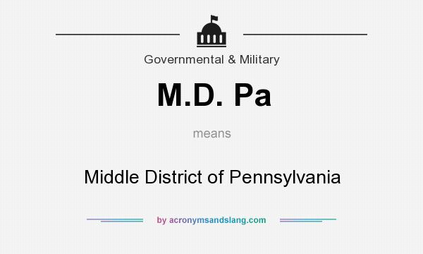 What does M.D. Pa mean? It stands for Middle District of Pennsylvania