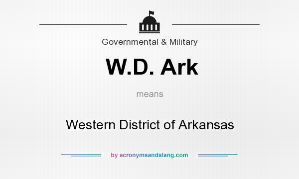 What does W.D. Ark mean? It stands for Western District of Arkansas