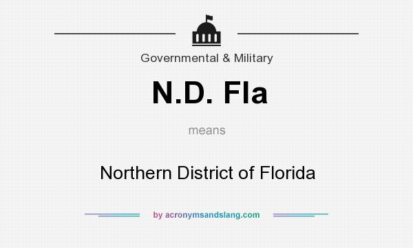 What does N.D. Fla mean? It stands for Northern District of Florida