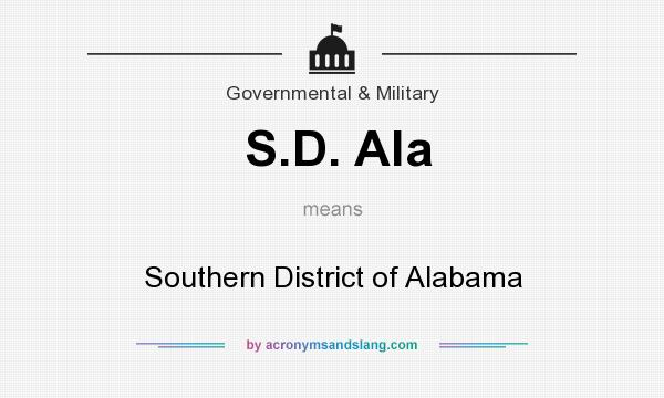 What does S.D. Ala mean? It stands for Southern District of Alabama