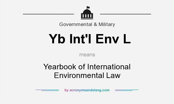 What does Yb Int`l Env L mean? It stands for Yearbook of International Environmental Law
