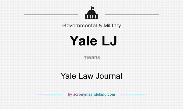 What does Yale LJ mean? It stands for Yale Law Journal
