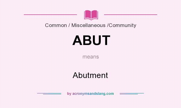 abutment definition