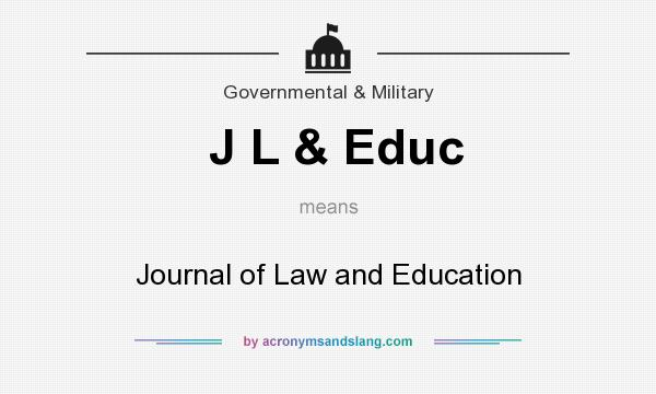 What does J L & Educ mean? It stands for Journal of Law and Education