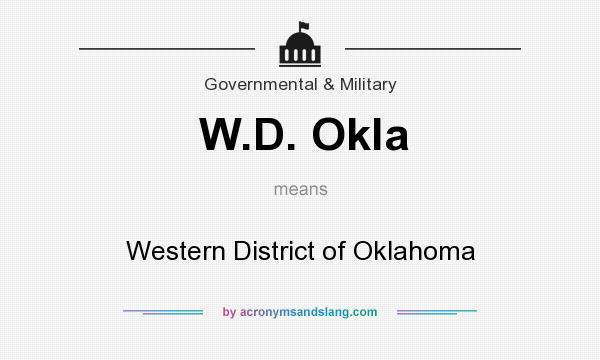 What does W.D. Okla mean? It stands for Western District of Oklahoma