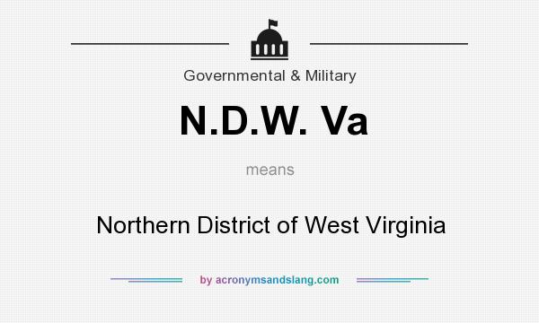 What does N.D.W. Va mean? It stands for Northern District of West Virginia