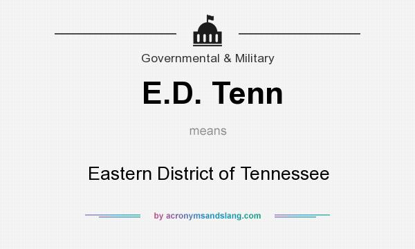 What does E.D. Tenn mean? It stands for Eastern District of Tennessee