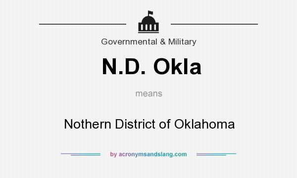 What does N.D. Okla mean? It stands for Nothern District of Oklahoma