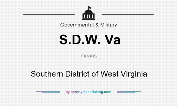 What does S.D.W. Va mean? It stands for Southern District of West Virginia