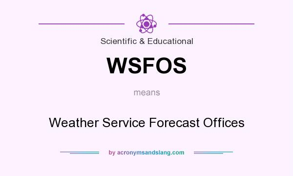 What does WSFOS mean? It stands for Weather Service Forecast Offices