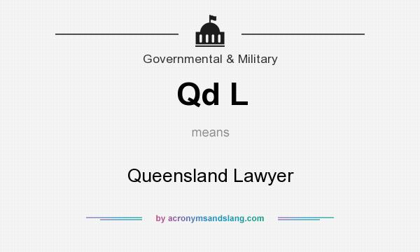 What does Qd L mean? It stands for Queensland Lawyer