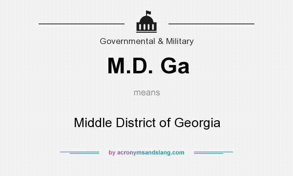 What does M.D. Ga mean? It stands for Middle District of Georgia