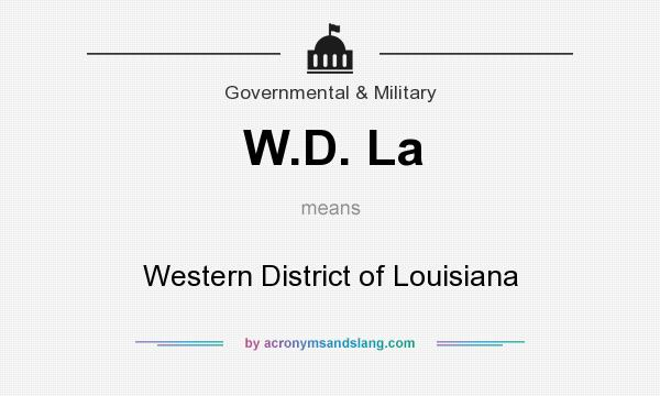 What does W.D. La mean? It stands for Western District of Louisiana