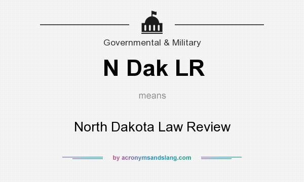What does N Dak LR mean? It stands for North Dakota Law Review