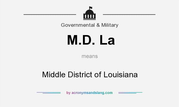 What does M.D. La mean? It stands for Middle District of Louisiana