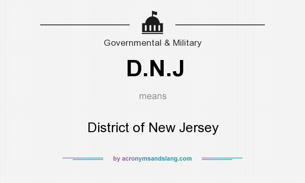 What does D.N.J mean? It stands for District of New Jersey