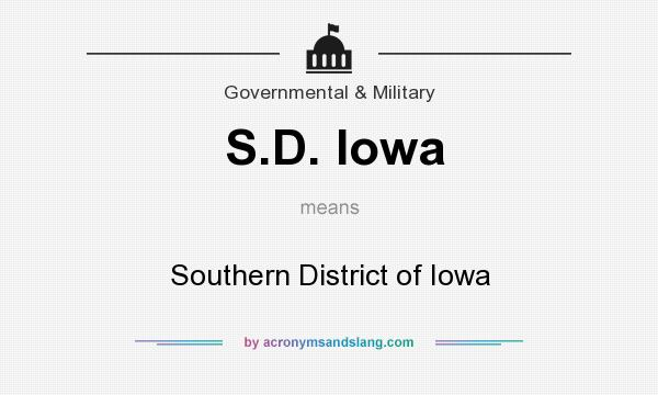 What does S.D. Iowa mean? It stands for Southern District of Iowa