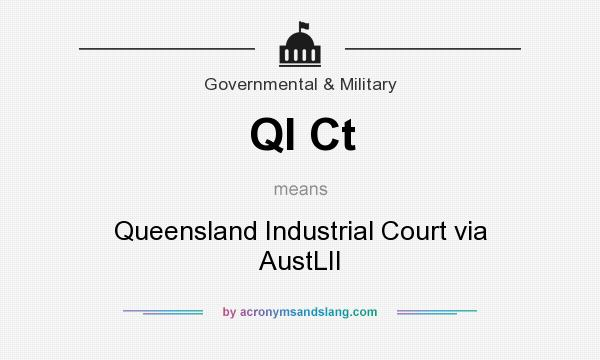 What does QI Ct mean? It stands for Queensland Industrial Court via AustLII