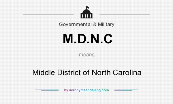 What does M.D.N.C mean? It stands for Middle District of North Carolina