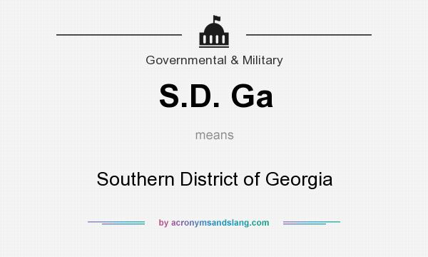 What does S.D. Ga mean? It stands for Southern District of Georgia