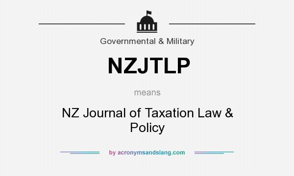 What does NZJTLP mean? It stands for NZ Journal of Taxation Law & Policy