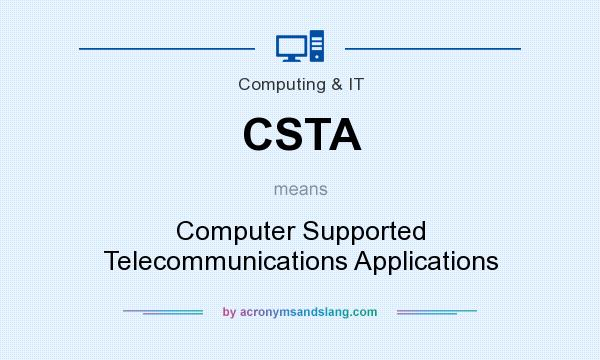 What does CSTA mean? It stands for Computer Supported Telecommunications Applications