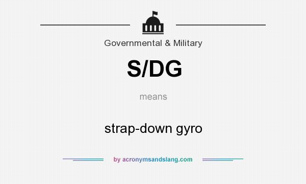 What does S/DG mean? It stands for strap-down gyro