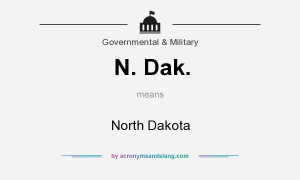 What does N. Dak. mean? It stands for North Dakota
