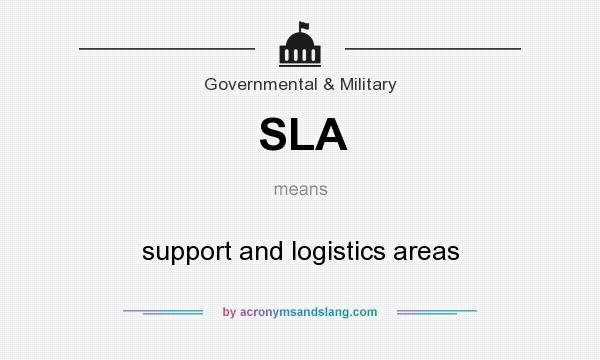 What does SLA mean? It stands for support and logistics areas
