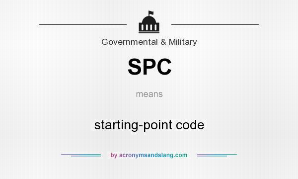 What does SPC mean? It stands for starting-point code