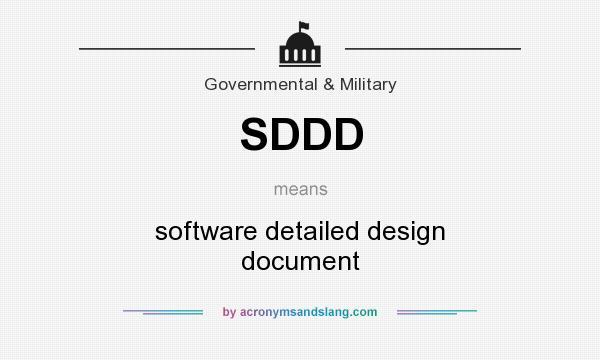 Sddd Software Detailed Design Document By Acronymsandslang Com