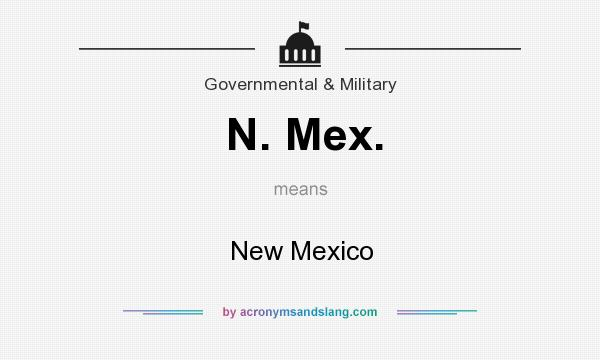 What does N. Mex. mean? It stands for New Mexico